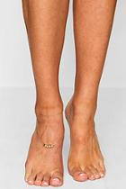 Boohoo Erin Double Layer Heart Charm Anklet