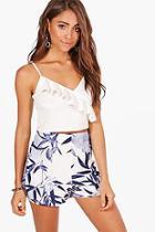 Boohoo Jessy Floral Print Smart Shorts