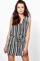 Boohoo Lily Drape Wrap Front Playsuit