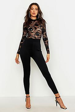 Boohoo Tall Lace High Neck Jumpsuit