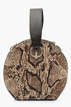 Boohoo Faux Snake Handle Grab Bag