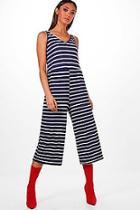 Boohoo Narla Striped Culotte Jumpsuit