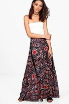 Boohoo Luna Printed Woven Maxi Skirt