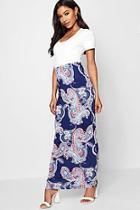 Boohoo Paisley Maxi Skirt