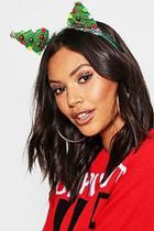 Boohoo Christmas Tree Merry Christmas Headband