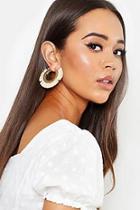 Boohoo Raffia Hoop Earrings