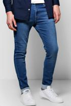 Boohoo Skinny Fit Washed Jeans Blue