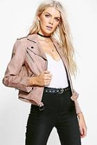 Boohoo Niamh Boutique Faux Suede Biker Jacket