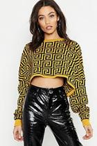 Boohoo Cropped Oversized Jumper