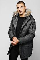 Boohoo Hooded Quilted Parka