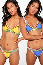 Boohoo Nina Boutique Reversible Crochet Bikini