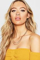 Boohoo Double Chunky Chain Necklace