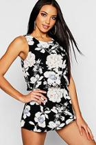 Boohoo Floral Frill Layered Playsuit