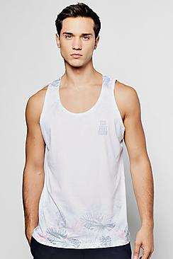 Boohoo The Best Vibes Sublimation Vest