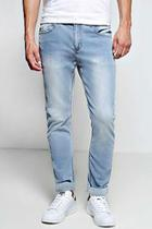 Boohoo Stone Washed Stretch Skinny Fit Jeans
