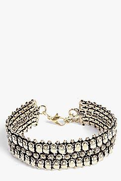 Boohoo Zoe Detailed Statement Bracelet