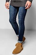 Boohoo Dark Washed Indigo Super Skinny Fit Jeans