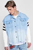 Boohoo Ombre Effect Sleeveless Denim Jacket