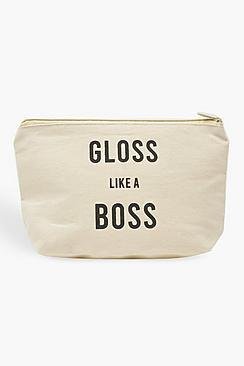 Boohoo Gloss Like A Boss Makeup Bag