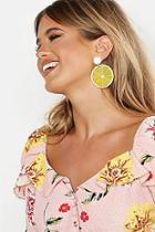 Boohoo Lemon Resin Earrings