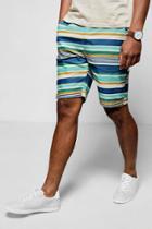 Boohoo Multi Stripe Short Multi