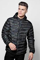 Boohoo Hooded Camo Puffer Coat