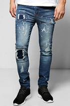 Boohoo Distressed Skinny Ripped Jeans