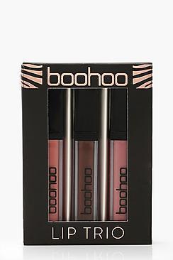 Boohoo Lip Trio - Nudes