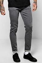 Boohoo Raw Grey Skinny Fit Jeans