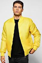 Boohoo Yellow Ma1 Bomber Jacket