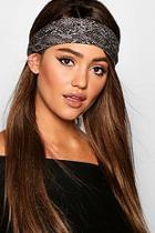 Boohoo Snake Print Headband
