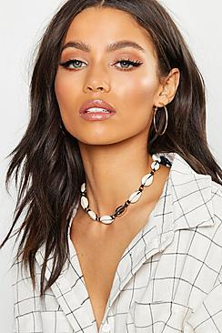 Boohoo Shell Anklet & Necklace Pack