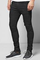 Boohoo Skinny Fit Raw Cuff Ripped Jeans
