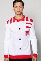 Boohoo Snowman Christmas Jumper White