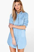 Boohoo Jenny Denim Shirt Dress