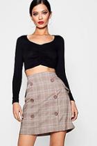 Boohoo Check Mini Skirt