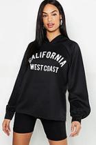 Boohoo Tall California Slogan Hoody