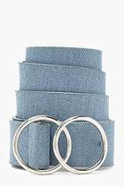 Boohoo Hannah Double Ring Denim Boyfriend Belt