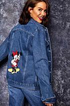 Boohoo Disney Mickey And Minnie Denim Jacket