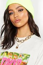 Boohoo Chunky Chain & Padlock Layered Necklace