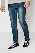 Boohoo Washed Blue Stretch Skinny Denim Jeans