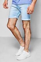 Boohoo Skinny Fit Bleach Wash Denim Shorts