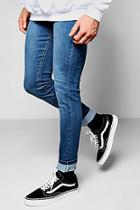 Boohoo Super Skinny Fit Blue Washed Jeans