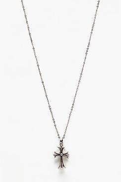Boohoo Cross Pendant Necklace