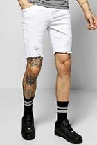 Boohoo Skinny Stretch Biker Denim Shorts
