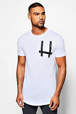 Boohoo Short Sleeve Taped Pocket Tshirt