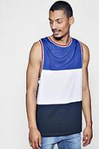 Boohoo Colour Block Mesh Vest