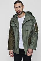 Boohoo Contrast Pocket Field Jacket