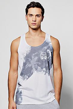 Boohoo Ibiza Palm Sublimation Vest