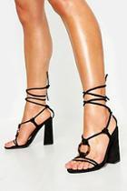 Boohoo Tortoiseshell Ring Wrap Block Heels